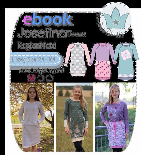 Produktfoto von prinzessin farbenfroh zum Nähen für Schnittmuster Josefina Teens