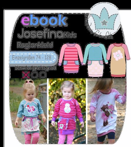 Produktfoto von prinzessin farbenfroh zum Nähen für Schnittmuster Josefina Kids