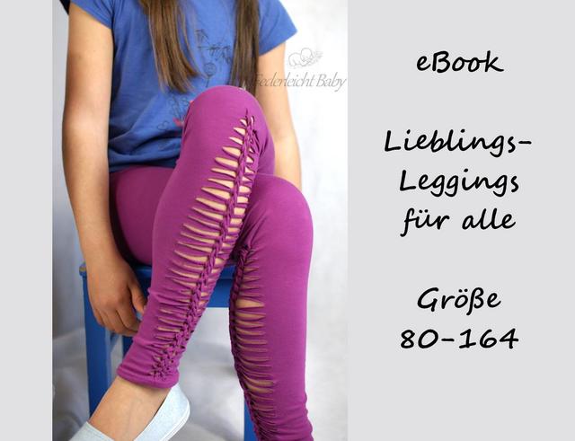 Produktfoto von Bunte Nähigkeiten zum Nähen für Schnittmuster LiLefa - Lieblings-Leggings für alle