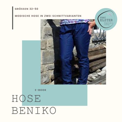 Produktfoto von Frau Elster Designstudio zum Nähen für Schnittmuster Hose Beniko