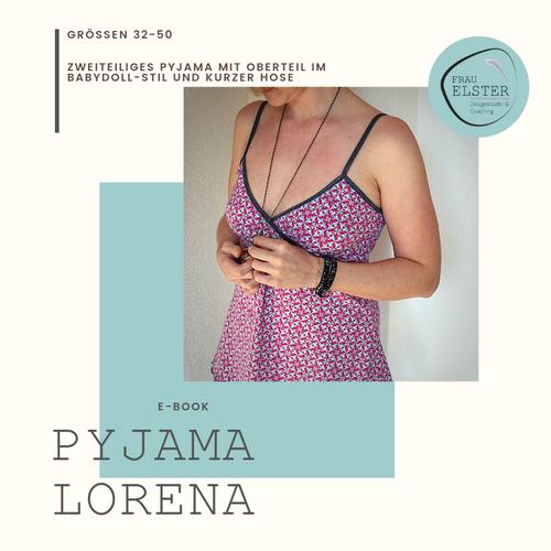 Produktfoto von Frau Elster Designstudio zum Nähen für Schnittmuster Pyjama Lorena