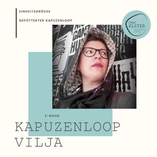 Produktfoto von Frau Elster Designstudio zum Nähen für Schnittmuster Kapuzenloop Vilja
