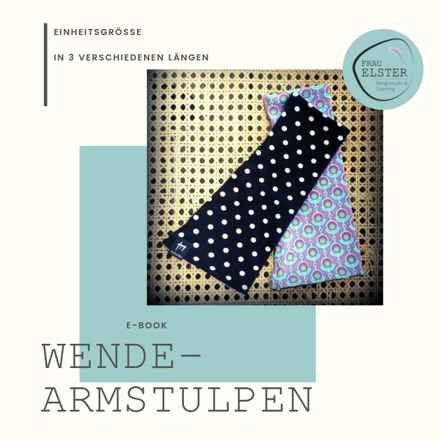 Produktfoto von Frau Elster Designstudio zum Nähen für Schnittmuster Wende-Armstulpen