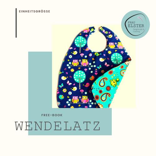 Produktfoto von Frau Elster Designstudio zum Nähen für Schnittmuster Wendelätzli