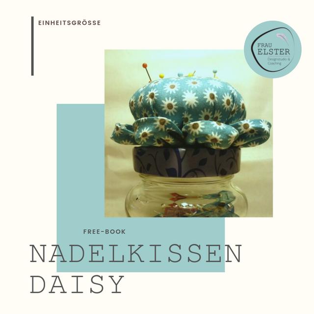 Produktfoto von Frau Elster Designstudio zum Nähen für Schnittmuster Nadelkissen Daisy