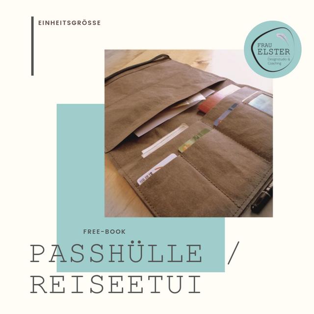 Produktfoto von Frau Elster Designstudio zum Nähen für Schnittmuster Passhülle