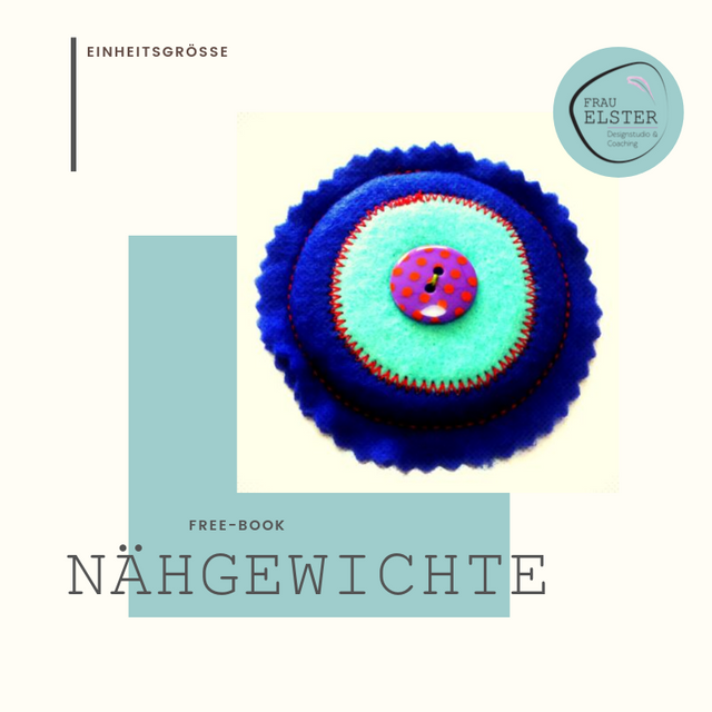 Produktfoto von Frau Elster Designstudio zum Nähen für Schnittmuster Nähgewichte