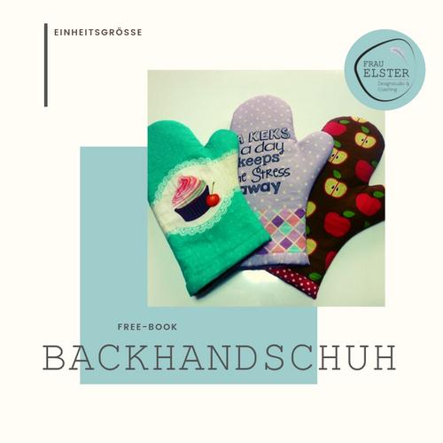Produktfoto von Frau Elster Designstudio zum Nähen für Schnittmuster Backhandschuhe