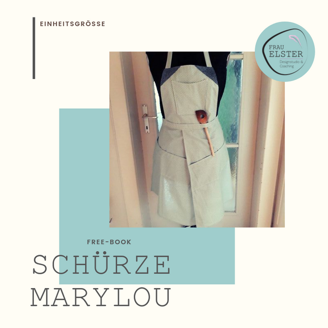 Produktfoto von Frau Elster Designstudio zum Nähen für Schnittmuster Koch- und Gartenschürze MaryLou