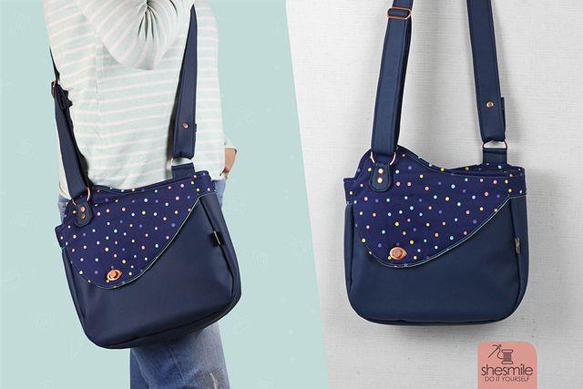 Produktfoto von shesmile zum Nähen für Schnittmuster Handtasche Carla