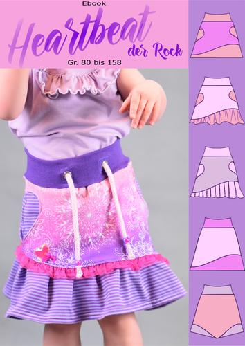 Produktfoto von Rosalieb & Wildblau zum Nähen für Schnittmuster Rock Heartbeat