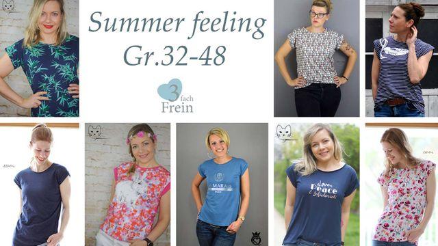 Produktfoto von 3fachFrein zum Nähen für Schnittmuster T-Shirt Summer Feeling