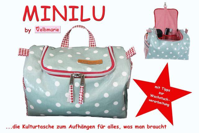 Produktfoto von elbmarie zum Nähen für Schnittmuster Kulturtasche Minilu