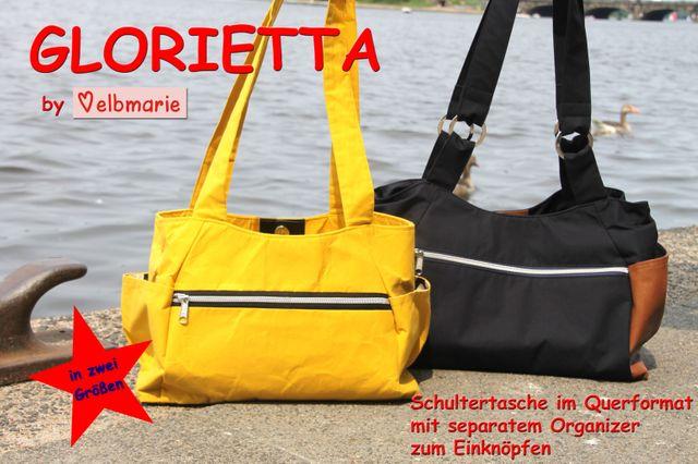 Produktfoto von elbmarie zum Nähen für Schnittmuster Tasche Glorietta