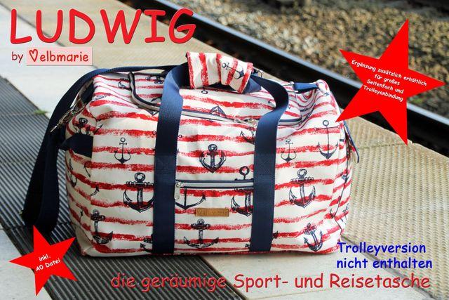 Produktfoto von elbmarie zum Nähen für Schnittmuster Reisetasche Ludwig