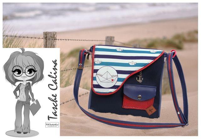 Produktfoto von AKkreativ zum Nähen für Schnittmuster Tasche Calina