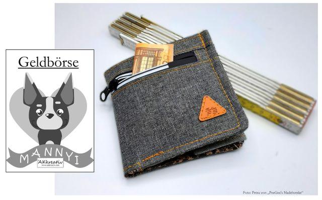 Produktfoto von AKkreativ zum Nähen für Schnittmuster Geldbörse Mannyi