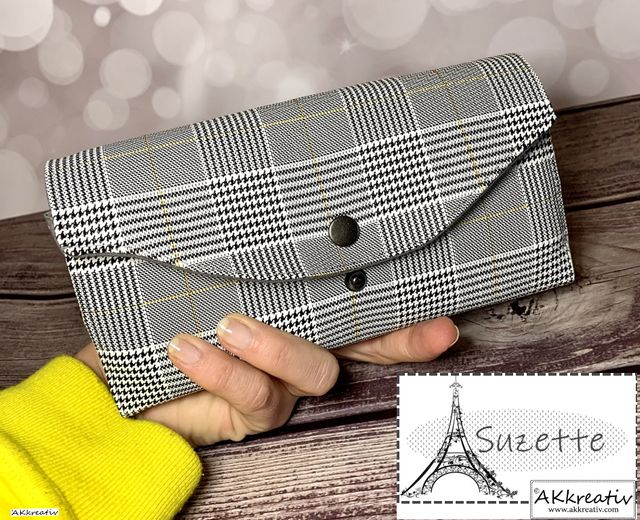 Produktfoto von AKkreativ zum Nähen für Schnittmuster Geldbörse Suzette