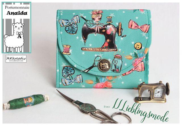 Produktfoto von AKkreativ zum Nähen für Schnittmuster Geldbörse Anaida