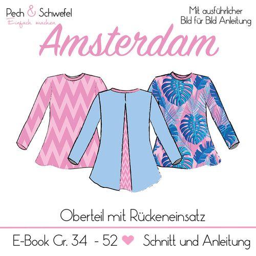 Produktfoto von Pech & Schwefel zum Nähen für Schnittmuster Bluse/Shirt Amsterdam