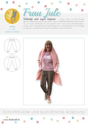Produktfoto von Hedi zum Nähen für Schnittmuster Hose Frau Jule