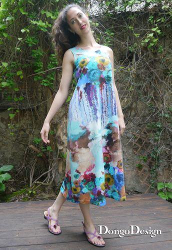 Produktfoto von DongoDesign zum Nähen für Schnittmuster Jerseykleid Nolde