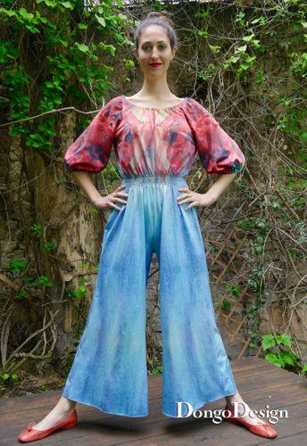 Produktfoto von DongoDesign zum Nähen für Schnittmuster Jumpsuit Blue-Moon