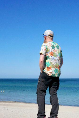 Produktfoto von Windschnittich zum Nähen für Schnittmuster Basic-Shirt für Männer