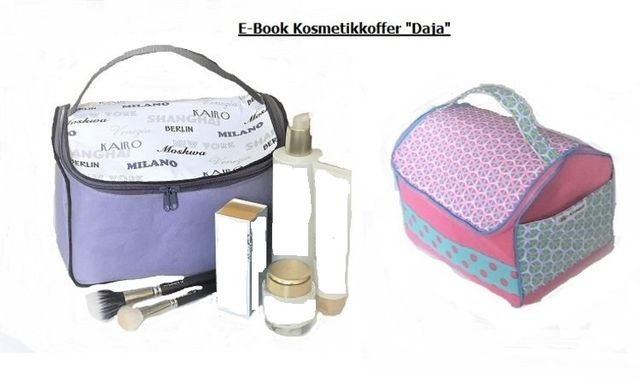 Produktfoto von Afrosteff zum Nähen für Schnittmuster Kosmetikkoffer Daja