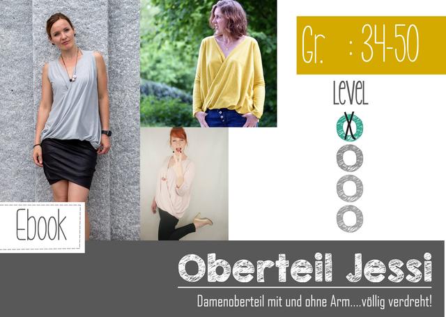Produktfoto von FeeFee zum Nähen für Schnittmuster Shirt Jessi Damen