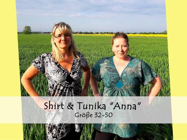 Produktfoto von Bunte Nähigkeiten zum Nähen für Schnittmuster Shirt & Tunika Anna