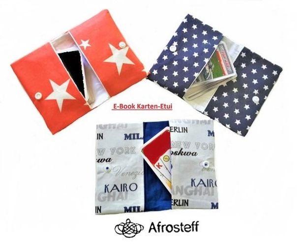 Produktfoto von Afrosteff zum Nähen für Schnittmuster Etui für Spiel- und Sammelkarten