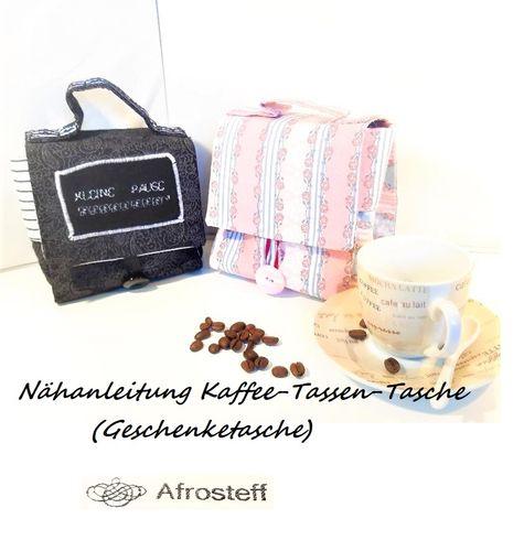 Produktfoto von Afrosteff zum Nähen für Schnittmuster Kaffee-Tassen-Tasche