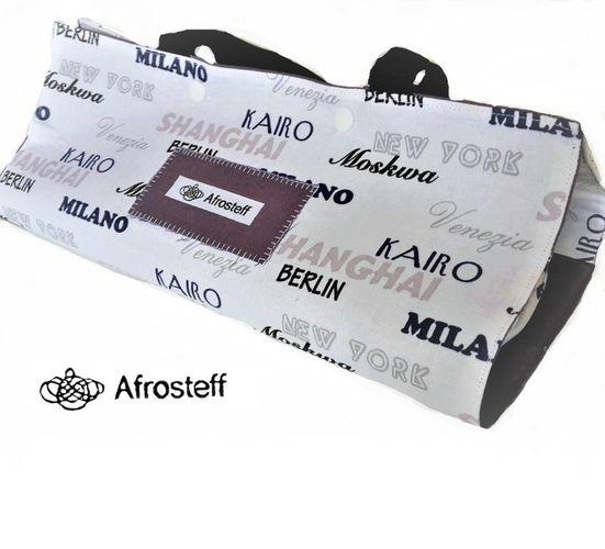 Produktfoto von Afrosteff zum Nähen für Schnittmuster Stricktasche für unterwegs