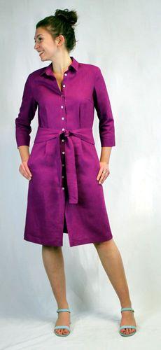 Produktfoto von Schnittmuster Berlin zum Nähen für Schnittmuster Hemdblusenkleid Quentina
