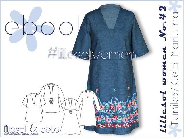Produktfoto von Lillesol & Pelle zum Nähen für Schnittmuster Lillesol women No. 42 Tunika/Kleid Mariluna