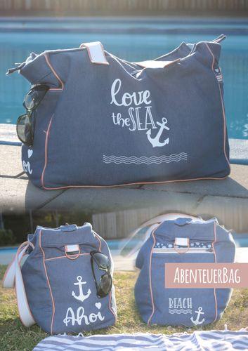 Produktfoto von Abenteuermädchen zum Nähen für Schnittmuster AbenteuerBag