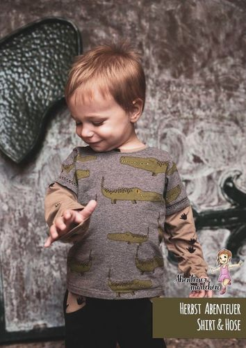 Produktfoto von Abenteuermädchen zum Nähen für Schnittmuster Herbst Abenteuer Shirt & Hose