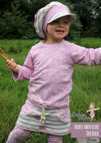 Produktfoto von Abenteuermädchen zum Nähen für Schnittmuster Herbst Abenteuer Shirt & Rock