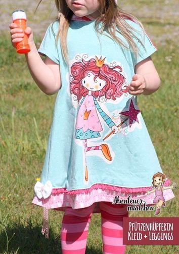 Produktfoto von Abenteuermädchen zum Nähen für Schnittmuster Pfützenhüpferin