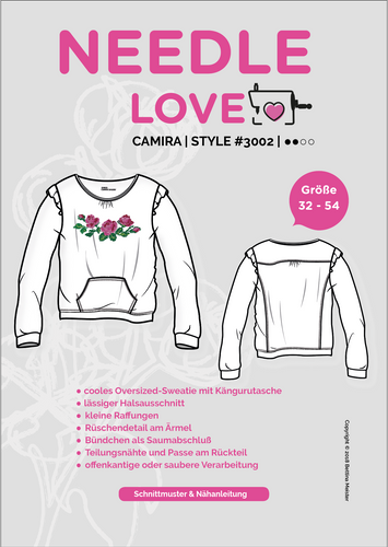 Produktfoto von {NEEDLE LOVE} zum Nähen für Schnittmuster Camira