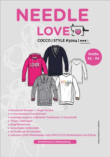 Produktfoto von {NEEDLE LOVE} zum Nähen für Schnittmuster Cocco