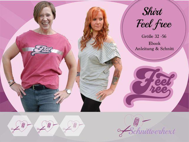 Produktfoto von Schnittverhext zum Nähen für Schnittmuster Feel Free