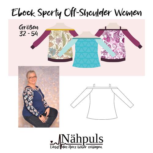 Produktfoto von Nähpuls zum Nähen für Schnittmuster Sporty Off-Shoulder Woman