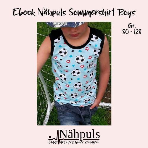 Produktfoto von Nähpuls zum Nähen für Schnittmuster Nähpuls Sommershirt Boys