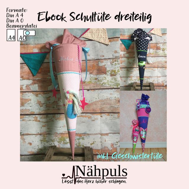 Produktfoto von Nähpuls zum Nähen für Schnittmuster Große und kleine Schultüte dreigeteilt