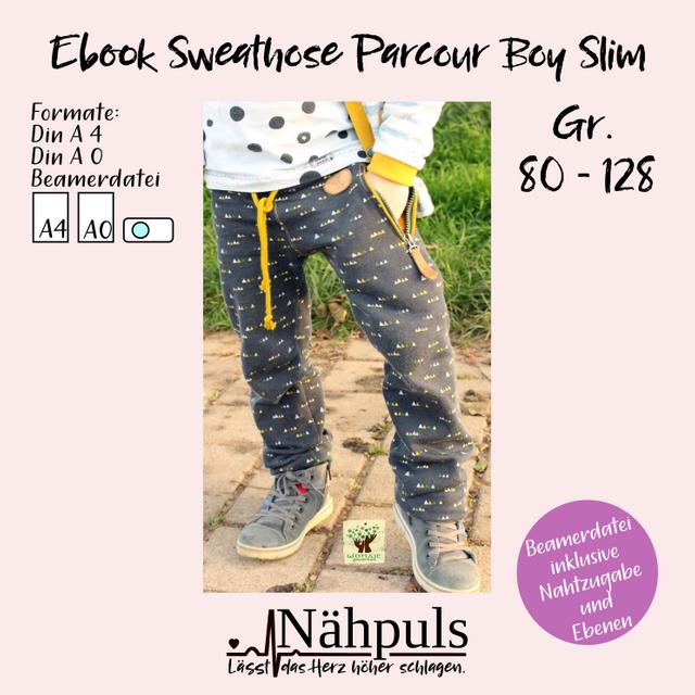 Produktfoto von Nähpuls zum Nähen für Schnittmuster Sweathose Parcour Boy slim
