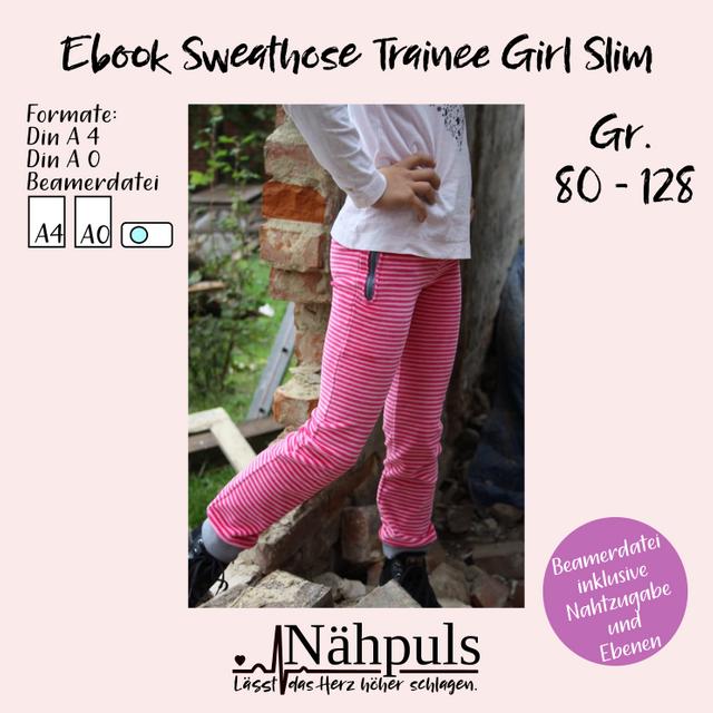 Produktfoto von Nähpuls zum Nähen für Schnittmuster Sweathose Trainee Girl slim
