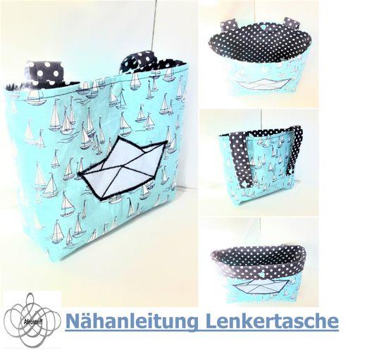 Produktfoto von Afrosteff zum Nähen für Schnittmuster Lenkertasche/Betttasche