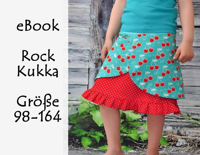 Produktfoto von Bunte Nähigkeiten zum Nähen für Schnittmuster Sommer-Rock Kukka